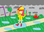 AppleBloom Singin' In The Rain by equestriaguy637