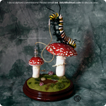 : Alice in Wonderland caterpillar sculpture : by BastardPrince