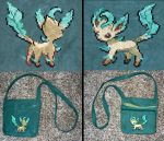 Leafeon Purse by Wingedworchael