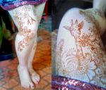 Suprising Henna Giraffe by cydienne