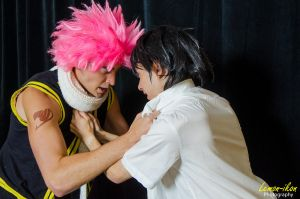 Natsu and Gray fighting by OORR