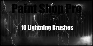 Paint Shop Pro Lightning Brushes by FrostBo