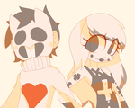 :Art Trade: Zacharie and Crossy Len by MisterCakerz