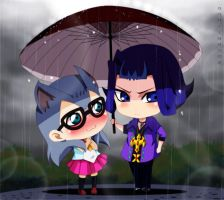 Kathy and Ryouga by annria2002