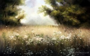 Summer Day - Speed Painting by Aliciane