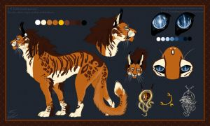 Itarah reference sheet by soulspoison