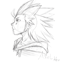 Axel Sketch by Pon3Splash