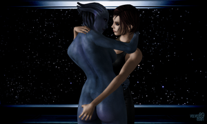One Sexy Shepard And One Sexy Asari by Velvet-Asari89