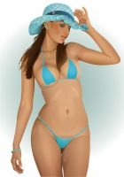 Karla Blue Bikini by GraphicDream