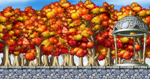 Autumn road Custom Background by EightQueens