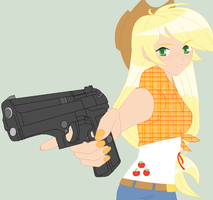 Badass Applejack by HippieUnicornFlower