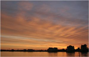 Sunrise on Pamlico Sound by pewter2k