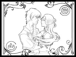 EDIT-Zuko and Katara lineart by TerraForever