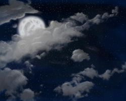 Moon and clouds by Kodocell