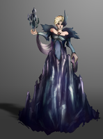 Corrupted Ice Queen Elsa by Kay-Yen