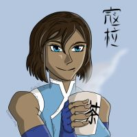 Korra With Some Tea. by DGraySpartan