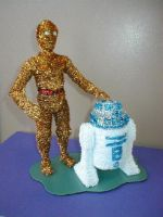 Pipe Cleaner C3P0 and R2D2 by fuzzymutt