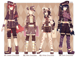 -CLOSED- Adoptables: Lacynes Set 03 by redsake-adopts