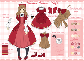 OC Ref: Melanie's Scarlet Dress Outfit by Kyoukouo