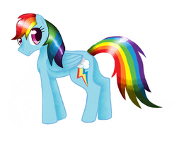 Rainbow Dash Made With Paint by zeepaarden