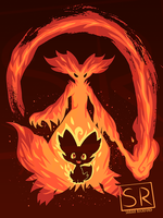 I Wanna be a Fire Mage Delphox - shirt design by SarahRichford