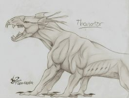Thanator by dinosapien