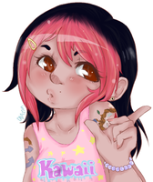 Little pink haired me by DNAzion
