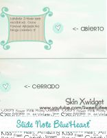 Slide Note Blue Heart' ForXwidget' by SweetLiifee