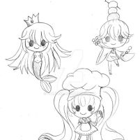 Chibi Sketches by YamPuff
