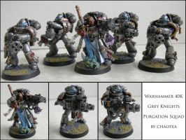 Grey Knight Purgation Squad by chaotea