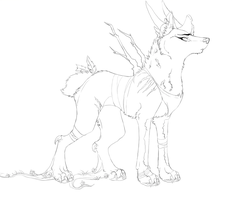 Forest Spirit WIP by nightspiritwing