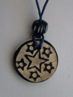 wooden star pendant by MadDani