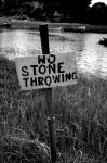 No Stone Throwing by Izzerbella