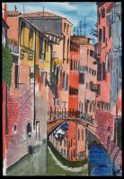 Streets of Venice by Charcoal-inthe-Rough