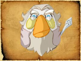 Gandalf le blanc bird fond by Debarsy