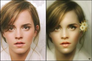 Emma Watson (before-after) by Vayne17