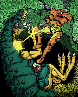Metroid Tribute! by rabbitmaskedman