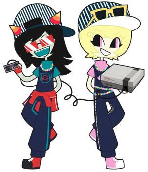 Latula Pyrope and Roxy Lalonde by nekozneko