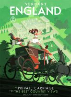 Delilah Dirk 'Travel Poster' - VERDANT ENGLAND by TangoCharlieESQ