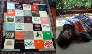 T-Shirt Quilt by Madelei