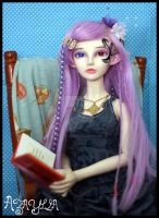 Azaylia - Looking up from her book by SyrynValentyne