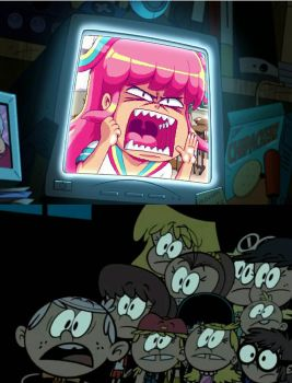 The Loud Siblings scares of GIFfany by Toongirl18