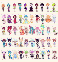 A lot of Adopts (OPEN) by Kariosa-Adopts