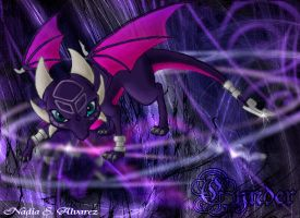 Cynder's reflection by 1234LERT7Nan2