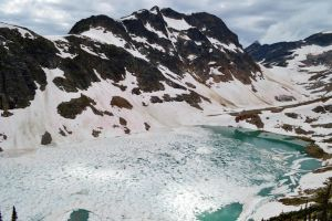frozen lake by BCMountainClimber