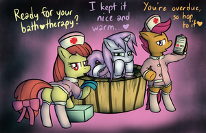 cutie mark crusaders nurses yay!! by Lamiaaaa
