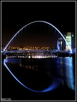 Newcastle Millenium Bridge by rwc101