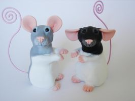 Memo Rat Sculpture Order Pair by philosophyfox