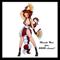 Mai_Shiranui_5000_views by Animator480