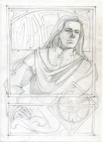 Maedhros. Sketch by AmadeoAlva
